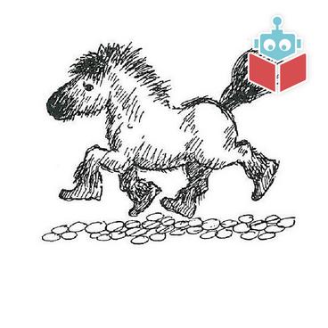 En lille hest på lodne ben